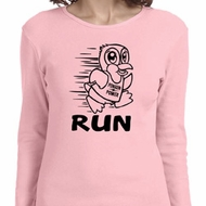Black Penguin Power Run Ladies Long Sleeve Shirt