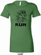 Black Penguin Power Run Ladies Longer Length Shirt