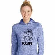 Black Penguin Power Run Ladies Moisture Wicking Hoodie