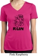 Black Penguin Power Run Ladies Moisture Wicking V-neck Shirt