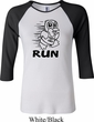 Black Penguin Power Run Ladies Raglan Shirt