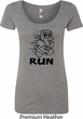 Black Penguin Power Run Ladies Scoop Neck Shirt