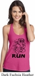 Black Penguin Power Run Ladies T-Back Tank Top