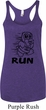 Black Penguin Power Run Ladies Tri Blend Racerback Tank Top
