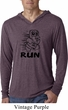 Black Penguin Power Run Lightweight Hoodie Shirt