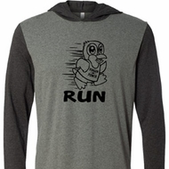 Black Penguin Power Run Lightweight Hoodie Tee