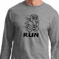 Black Penguin Power Run Long Sleeve Shirt