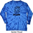 Black Penguin Power Run Long Sleeve Tie Dye Shirt