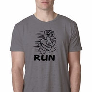 Black Penguin Power Run Mens Burnout Shirt