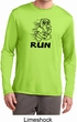 Black Penguin Power Run Mens Dry Wicking Long Sleeve Shirt