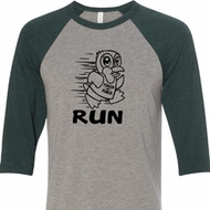 Black Penguin Power Run Mens Raglan Shirt