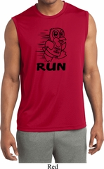 Black Penguin Power Run Mens Sleeveless Moisture Wicking Shirt