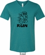 Black Penguin Power Run Mens Tri Blend V-neck Shirt