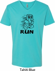 Black Penguin Power Run Mens V-Neck Shirt