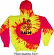 Black Penguin Power Run Tie Dye Hoodie