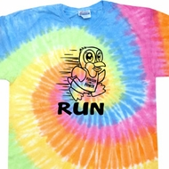 Black Penguin Power Run Tie Dye Shirt