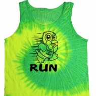 Black Penguin Power Run Tie Dye Tank Top
