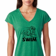 Black Penguin Power Swim Ladies Shirts