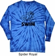 Black Penguin Power Swim Long Sleeve Tie Dye Shirt