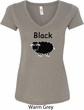 Black Sheep of the Family Funny Ladies V-Neck Shirt