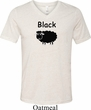 Black Sheep of the Family Funny Mens Tri Blend V-neck Shirt