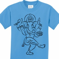Black Sketch Ganesha Kids Shirts