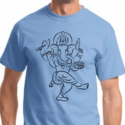 Black Sketch Ganesha Mens Shirts