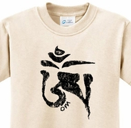 Black Tibetan Om Kids Yoga Shirts