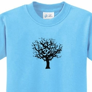 Black Tree of Life Kids Yoga Shirts
