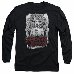 Black Veil Brides Long Sleeve Shirt Coffin Queen Black Tee T-Shirt