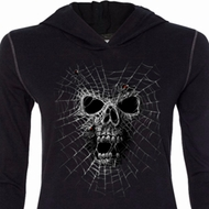 Black Widow Ladies Tri Blend Hoodie Shirt