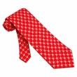 Block Tackle Tie Red Silk Necktie – Mens Sports Neck Tie