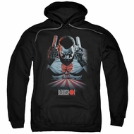 Bloodshot Hoodie Blood Lines Black Sweatshirt Hoody