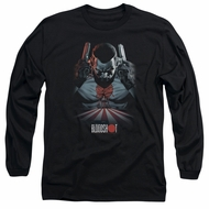 Bloodshot Shirt Blood Lines Long Sleeve Black Tee T-Shirt