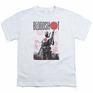 Bloodshot Shirt Kids Tech White T-Shirt