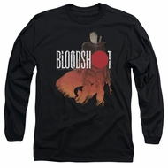 Bloodshot Shirt Orange Glow Long Sleeve Black Tee T-Shirt
