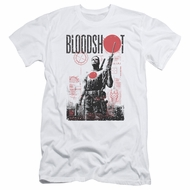 Bloodshot Shirt Slim Fit Tech White T-Shirt