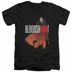 Bloodshot Shirt Slim Fit V-Neck Orange Glow Black T-Shirt