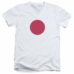 Bloodshot Shirt Slim Fit V-Neck Spot White T-Shirt