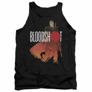 Bloodshot Shirt Tank Top Orange Glow Black Tanktop