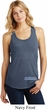 Blue Dodge Charger Bottom Print Ladies Racerback Tank Top
