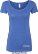 Blue Dodge Charger Bottom Print Ladies Scoop Neck Shirt