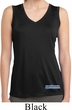 Blue Dodge Charger Bottom Print Ladies Sleeveless Moisture Wicking