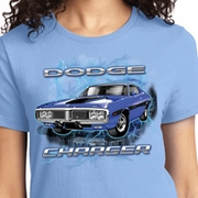 Blue Dodge Charger Ladies Dodge Shirts