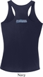 Blue Dodge Charger Neck Print Ladies Dry Wicking Racerback Tank Top
