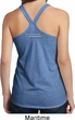 Blue Dodge Charger Neck Print T-Back Tank Top