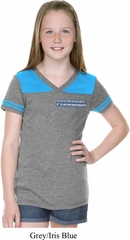 Blue Dodge Charger Pocket Print Girls Football Shirt