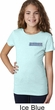 Blue Dodge Charger Pocket Print Girls Shirt