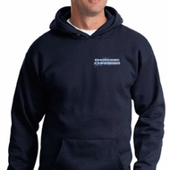 Blue Dodge Charger Pocket Print Hoody