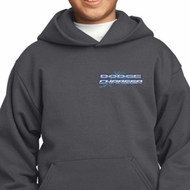 Blue Dodge Charger Pocket Print Kids Hoody
